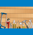 plumber tools icon set vector image