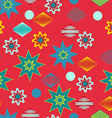 Retro christmas decorations seamless pattern vector image vector image