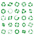 reusable arrows green recycle arrow recycling vector image vector image