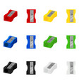 set colorful isolated pencil sharpeners vector image vector image