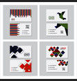Set of creative and clean business card template