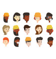 set of multicultural women and men vector image vector image