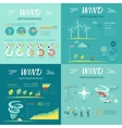 Set of Wind Infographics vector image