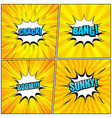 set of yellow comic book pages vector image