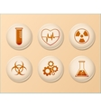 set science icons linear design vector image vector image