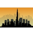 Silhouette of big Dubai city vector image vector image