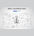 small business idea concept with business doodle vector image
