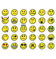 smiley hand drawings icon set01 in yellow color vector image