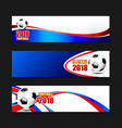 soccer football 2018 web banner 002 vector image