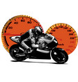 sport superbike motorcycle vector image