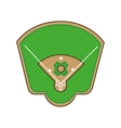 stadium baseball field green isolated vector image