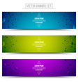 Technology Colorful Web Banners vector image vector image
