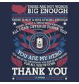 thank you veteran - american vector image vector image