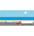 Truck on the road Delivery concept vector image vector image