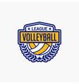 volleyball club badge logo-9 vector image vector image
