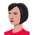 woman elegant portrait vector image vector image