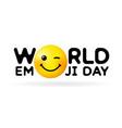 world emoji day happy banner vector image