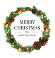 wreath isolated on white vector image vector image