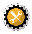 wrench and screwdriver mechanic tools icon vector image vector image