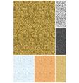 Seamless wallpaper pattern set vector image