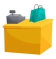 Supermarket cashbox concept cartoon style vector image