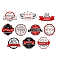 Retro labels and banners for retail business vector image