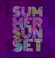 Endless Summer - Artwork for wear in custom colors vector image