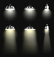 Three Types of Spotlights With Beams vector image