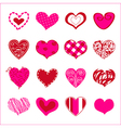 Set of hand drawn hearts for You vector image