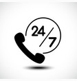 24 hours call center support icon vector image