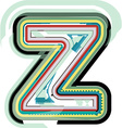 Abstract colorful Letter z vector image vector image