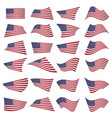 american flag setamerican flag blowing in the vector image vector image
