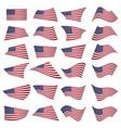 american flag setamerican flag blowing vector image