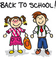 Back to school cartoon characters vector image