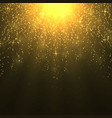 background with warm sun rays light effect vector image vector image