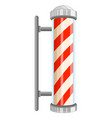 barber pole sign on white background vector image vector image