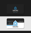 black business card template smart house vector image vector image
