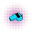 Blue sport whistle icon comics style vector image