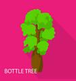 bottle tree icon flat style vector image