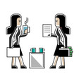 business meeting asian women in office vector image vector image
