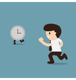 Businessman running with time vector image vector image