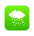 cloud and snow icon digital green vector image vector image