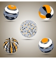 Color spheres set vector image vector image