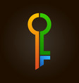 colorful abstract key logo real estate vector image