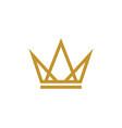 crown logo template icon vector image