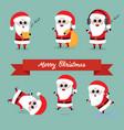 cute funny santa claus collection vector image