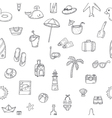 Cute hand drawn summer time theme seamless pattern vector image vector image