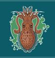 cuttlefish sticker vector image