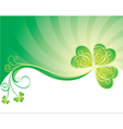 Decorative background with clover vector | Price: 1 Credit (USD $1)