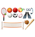 different equipments for different sports vector image